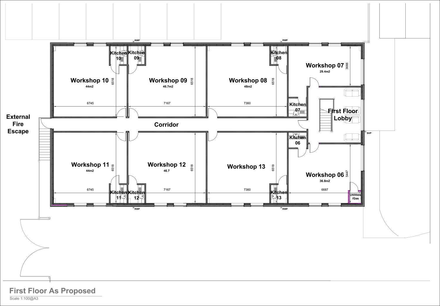 First Floor Plans - Steelbox Works