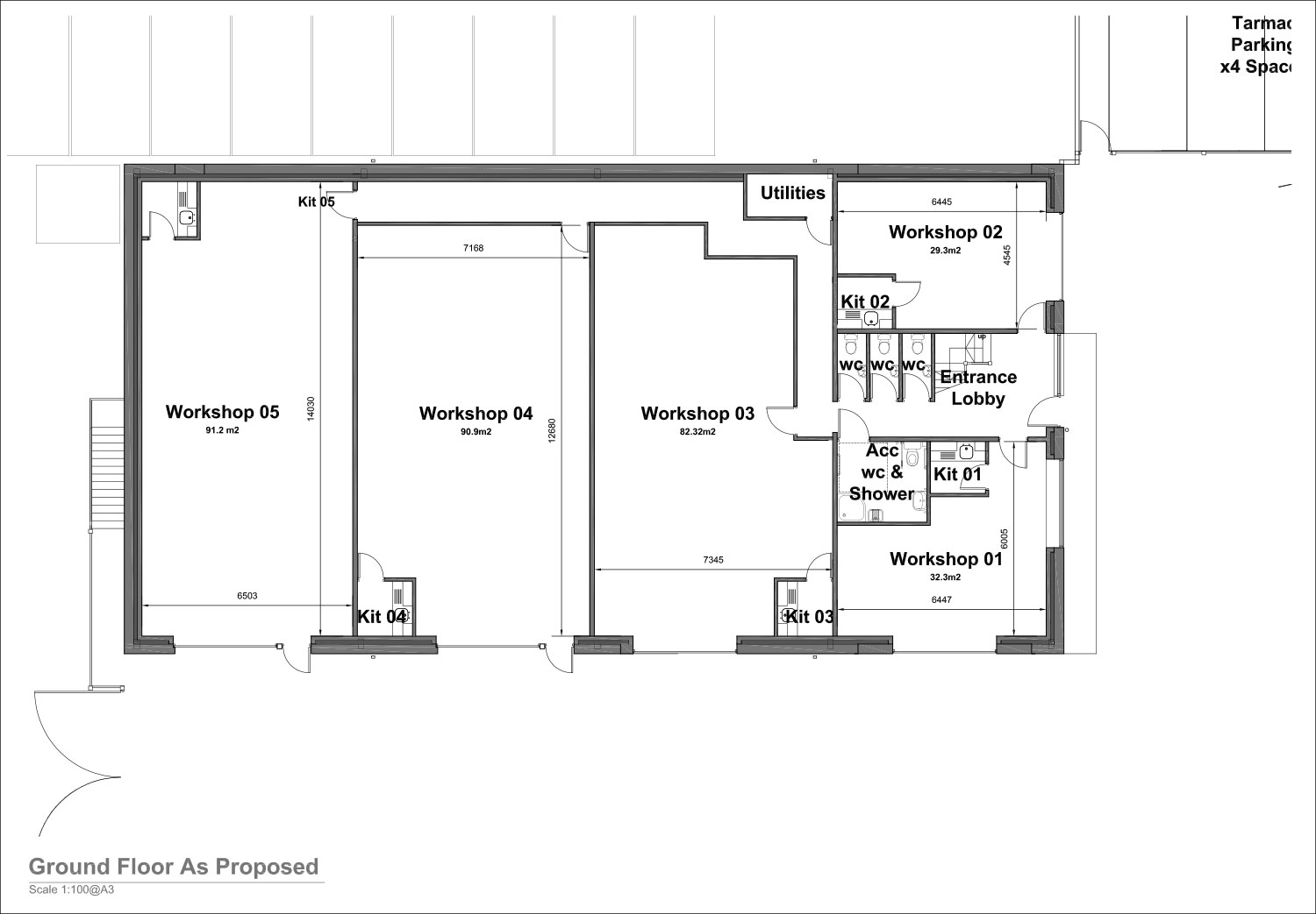 Ground Floor Plans - Steelbox Works